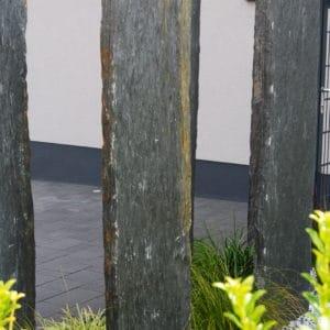 Schiefer Sichtschutzplatten Nero versetzt Garten Naturstein Dekosteine