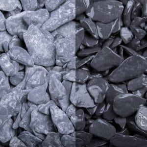 Canadian Slate schwarz getrommelte Natursteine 15-30mm