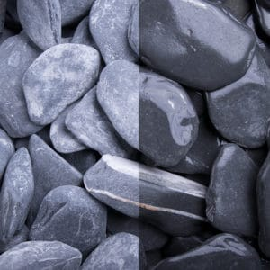 Canadian Slate schwarz getrommelte Natursteine 30-60mm