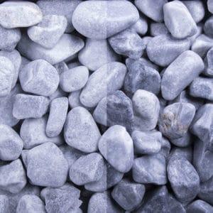 Kristall Blau Edelsplitt getrommelt 16-25mm
