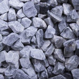 Kristall Blau Edelsplitt getrommelt 16-32mm