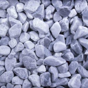 Kristall Blau Edelsplitt getrommelt 25-40mm