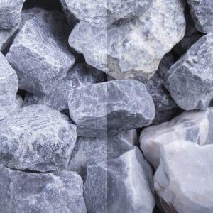 Kristall Blau Schüttsteine 30-60mm