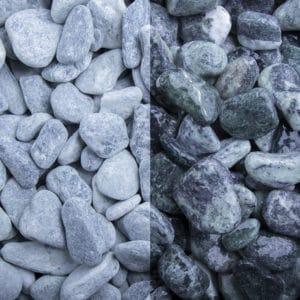 Kristall Grün Edelsplitt getrommelt 15-25mm