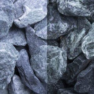 Marmor Grün Schüttsteine 40-80mm Bruchsteine