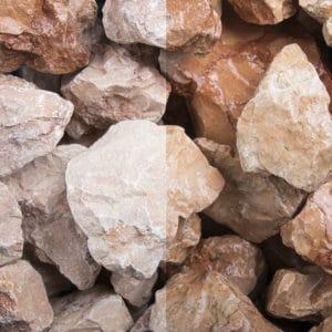 Marmor Orange Schüttsteine 30-60mm Bruchsteine
